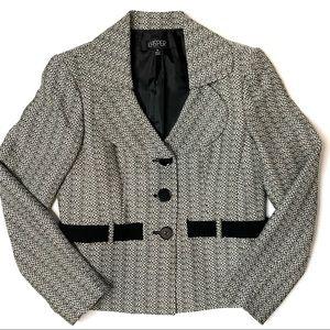 KASPER Womens lined button up V-neck suit blazer